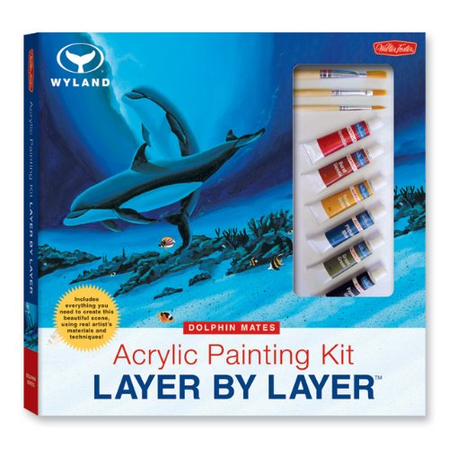 Acrylic Painting Kit Layer by Layer: Dolphin Mates: This Unique Method of Instruction Isolates Each Layer of the Painting, Ensuring Successful Results (Wyland Layer By Layer Series)