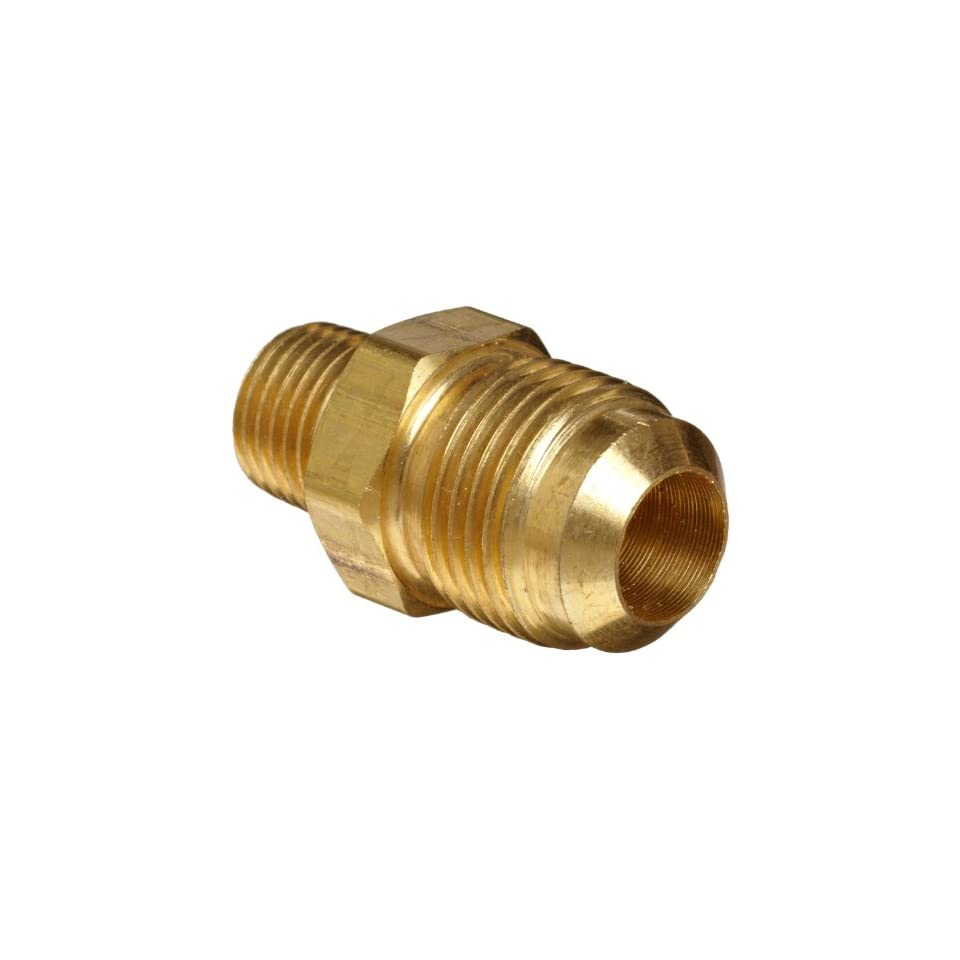 Anderson Metals Brass Tube Fitting, Coupling, 3/8 Flare x 3/8 Female Pipe