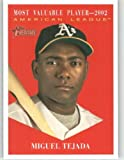 2010 Topps Heritage Baseball Card # 473 Miguel Tejada (MVP Award Winners / Short Print) Oakland Athletics - Mint Condition - MLB Trading Card