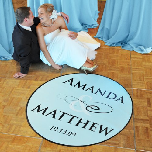 Baby Keepsake: Flourish Wedding Dance Floor Decal - Standard 39