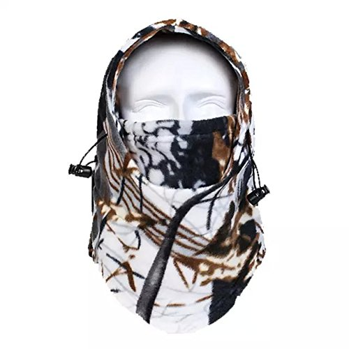 Ezyoutdoor Bush Hat Warm Jungle Camouflage Fleece thermal Camo Hat Windproof Fleece Hat Jungle Camouflage Full Face Mask,Hunting Biomimicry thermal Camo Face Mask(random color) (Dior Bush compare prices)