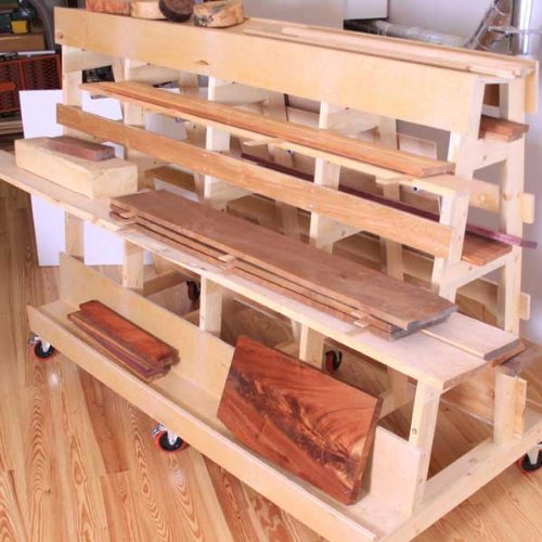 Woodworking Project Paper Plan to Build Lumber and Sheet Goods Storage Rack