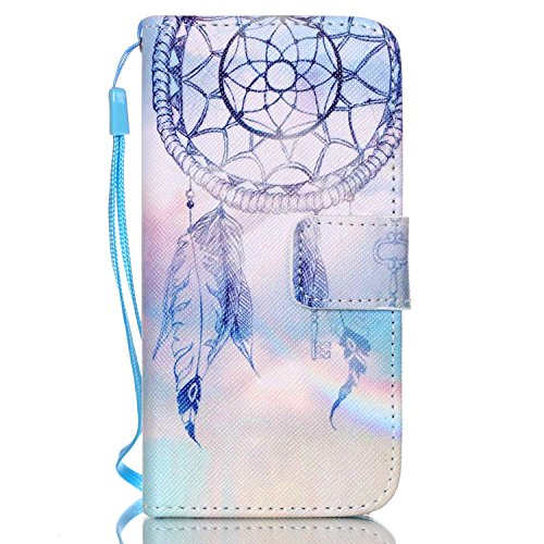 iPhone 5S Case,iPhone SE Case,iPhone 5 Case,JanCalm [Wrist Strap][Kickstand] Pattern PU Leather Wallet [Card/Cash Slots] Flip Cover for  iPhone 5/5S/SE + Crystal Pen (Aeolian bells) (Cute Iphone 5s Bumper Cases compare prices)