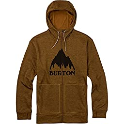 BURTON Men\'s Oak Full-Zip Hoodie, Large, Bistre Heather