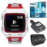 Garmin Forerunner 920XT Multisport GPS Watch - White/Red Bundle