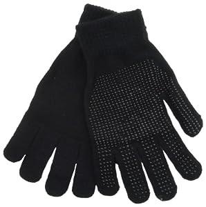Black Warm Magic Gloves with Palm Grip by RJM GL313