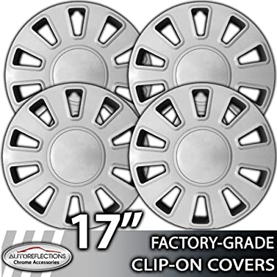 2003-2007 Ford Crown Victoria 17 Inch Chrome Clip-On Hubcap Covers