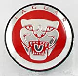 4 X NEW JAGUAR RED ALLOY WHEEL CENTRE CAPS 57MM XJ XJR XJ6 XF X S TYPE
