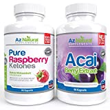Acai Berry and Raspberry Ketone 90 Count DUO Pack Plus -...