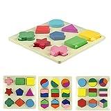 Binmer(TM) Newest Fashion Hot Sale Interesting Geometric Puzzle Wooden Shapes Jigsaw Puzzle(A) by Binmer(TM) [並行輸入品]
