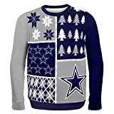 NFL Dallas Cowboys Busy Block Ugly Sweater, XX-Large, Blue