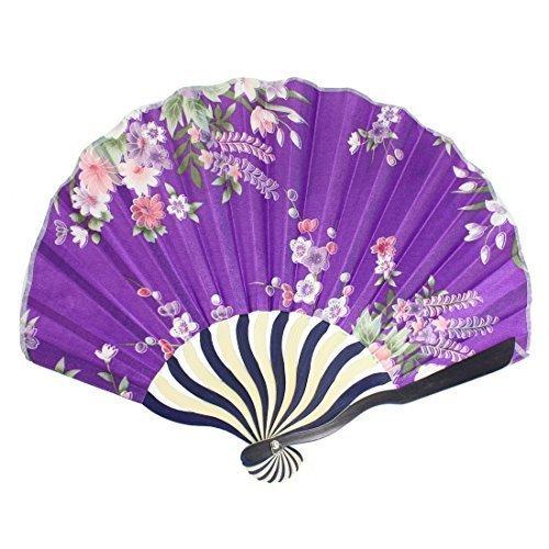 imprime-fleurs-nylon-curve-motif-eventail-pliant-violet