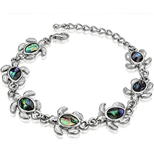 Genuine shell abalone bracelet turtle for Real tortoise shell jewelry