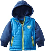 Ixtreme Royal Baby-Boys 12-24M Heat Stamp Vestie Puffer Hooded Jacket
