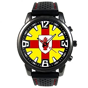 ireland ulster flag mens black jelly silicone