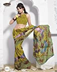 Lush Leaf Casual Printed Saree 13019-A