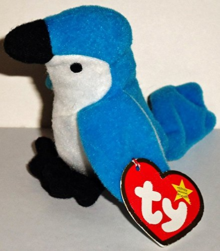 Rocket the Blue Jay - McDonald's Ty Teenie Beanie MIP - 1999 #05 - 1