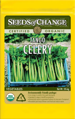 Seeds of Change Certified Organic Celery, Tango - 50 milligrams, 100 Seeds Pack