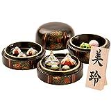 ひな人形 小さい 陶器 Shop Original 木札 S なつめ雛 リュウコドウ