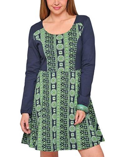 H.H.G. Vestido Verde / Azul