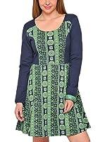 H.H.G. Vestido (Verde / Azul)