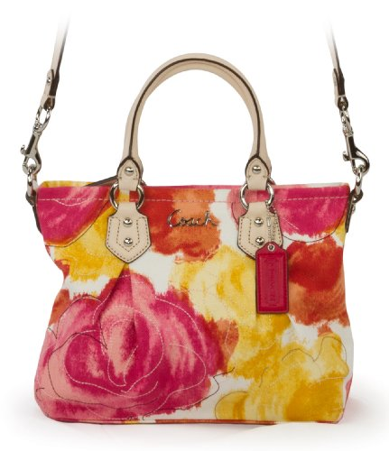 Coach Ashley Floral Print Mini Tote F21909 (SV/MC)