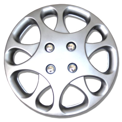TuningPros WSC-821S14 Hubcaps Wheel Skin Cover 14-Inches Silver Set of 4 (Saturn Ion Wheel Cover compare prices)