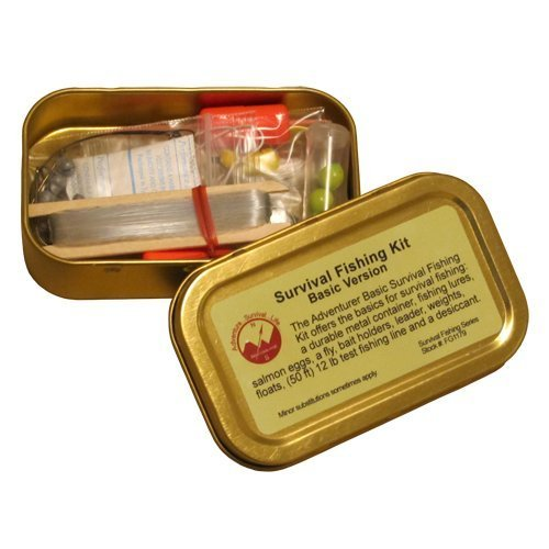 15-Pc. Emergency Survival Fishing Kit