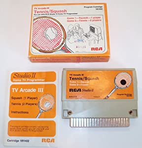 RCA Studio II Home TV Programmer TV Arcade III Tennis/Squash Cartridge 18V402