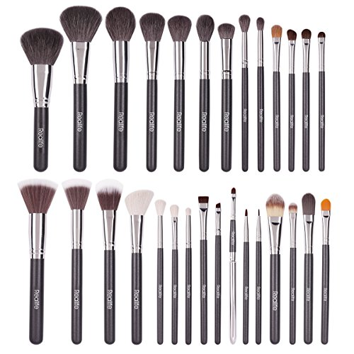 Kitdine Makeup Brushes set Goat hair Kabuki Cosmetics Foundation Makeup Foundation Eyeliner Blush Contour Brushes for Powder Cream make up Brush Kit(29 pcs) (Goat Hair Make Up Brushes compare prices)