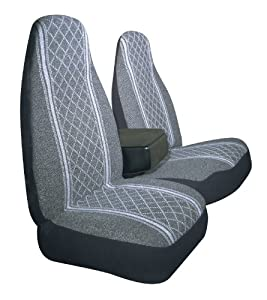 Allison 67-1917GRY Gray Diamond Back 60/40 Split Truck Seat Cover ( Pack of 2) by Allison Corporation