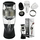 Vinara Wine Aerator [PREMIUM QUALITY] - Elegant and Luxurious Performs Better Than Traditional Single Stage Wine Aerators, Decanters, and Spout Pourers- [NO SPILL] Aeration Design- Dramatically Improves the Flavor - Achieves Better Bouquet- Easy to Use- Lavish Box Design-Perfect for ANY Occasion- FDA Certified Food Safe Material- SATISFACTION IS A LIFE TIME GUARANTEE!!