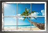 Strände – Poster – Window – Scenic View + Wechselrahmen der Marke Shinsuke® Maxi aus edlem Aluminium (ALU) Profil: 30mm schwarz