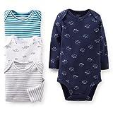 Carter's (カーターズ) :: ロンパース ボディスーツ 長袖 4枚組 綿100% :: 4-Pack Long-Sleeve Bodysuits :: 正規タグ保証 (並行輸入品)
