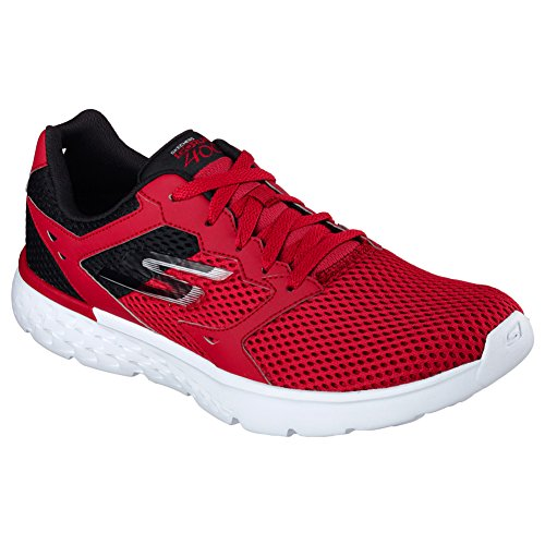 SKECHERS MENS GO RUN 400 SHOES RED BLACK SIZE 11.5