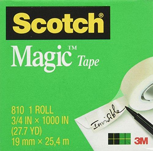 Scotch Magic Tape, 3/4 x 1000 Inches, Boxed, 24 Rolls (810K24)