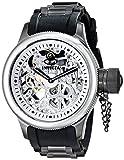 Invicta 17272 Men's Russian Diver Skeleton Silver Dial Steel & Rubber Strap Watch