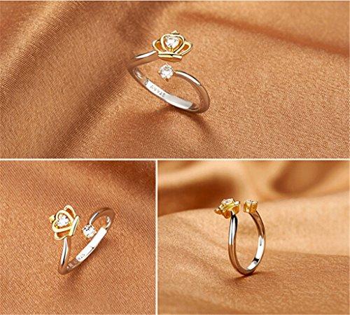 Uniwek 925 Sterling Silver Ring Princess Jewelry Cross