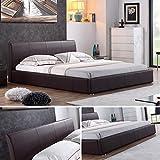 i-flair-Designer-Polsterbett-MONACO-Bett-140x200-cm-braun-alle-Farben-Gren