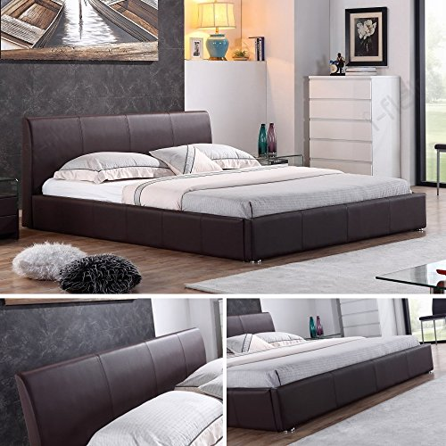 i flair designer polsterbett monaco bett 180x200 cm braun alle farben gr en. Black Bedroom Furniture Sets. Home Design Ideas