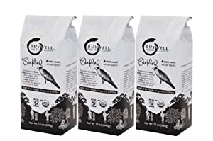 BuyWell Blackbird Espresso Blend, 100% Fair Trade, Organic Whole Bean, 12-Ounce Bags (Pack of 3)