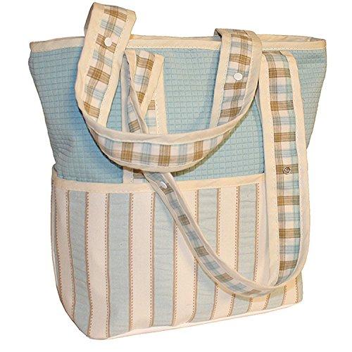 Hoohobbers Tote Diaper Bag, Spa Blue