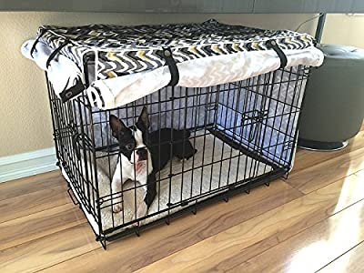 Designer Modern Waverly Dog Pet Wire Kennel Crate Cage House Cover (Small, Medium, Large, XL)
