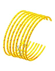 Venus One 22crt Gold Plated Bangles Set Of 6