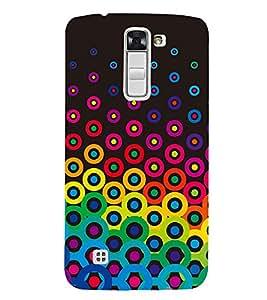 Button Pattern 3D Hard Polycarbonate Designer Back Case Cover for LG K7 4G Dual
