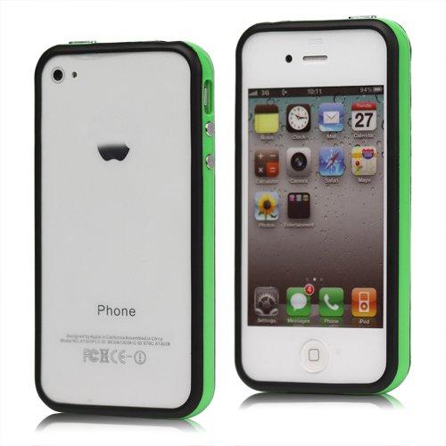 Original iCoverIt BUMPER für Apple iPhone 4 / 4S in NEONGRÜN mit schwarzem Rand (LIMITED GREEN & BLACK EDITION)