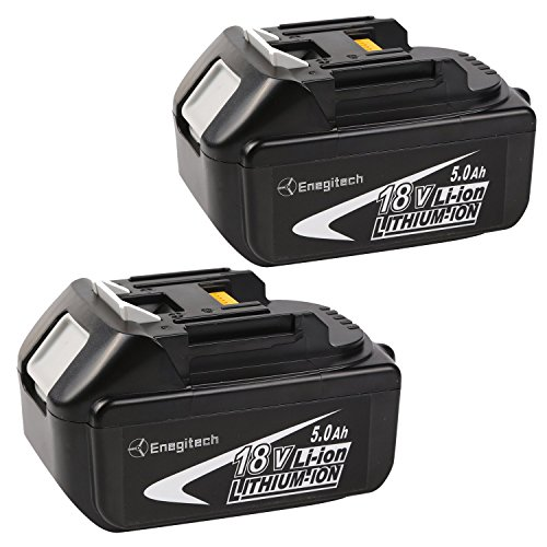 Enegitech 2 Pack 18V 5.0AH LXT Lithium-Ion Replacement Battery For Makita BL1850 BL1840 BL1830 LXT-400 194204-5 Cordless Power Tools (slide-style) (Grinder Plans compare prices)
