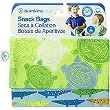 Bumkins Reusable Snack Bag, Crocs and Turtles, 2-count