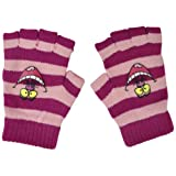 Alice In Wonderland Cheshire Cat Mitts Fingerless Mittens Striped Women Ladies