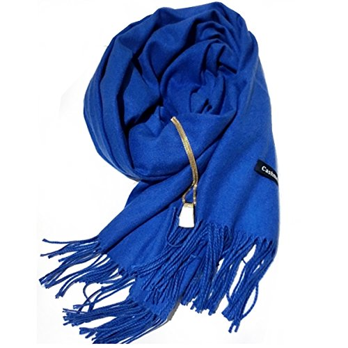 Good-Bag-Women-Ladies-Wool-Fashion-Plain-Warm-Long-Cashmere-Scarf-Pashmina-Wrap-Shawl-Color-Royal-BlueGreat-Valentines-Day-Gift